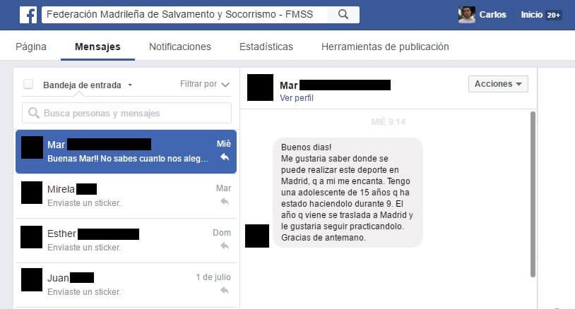 Ventajas Redes Sociales contacto privado Facebook