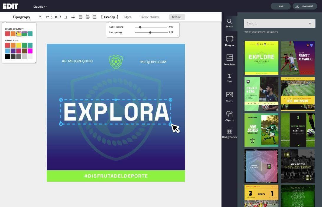 Diseño gráfico gratuito para Redes Sociales