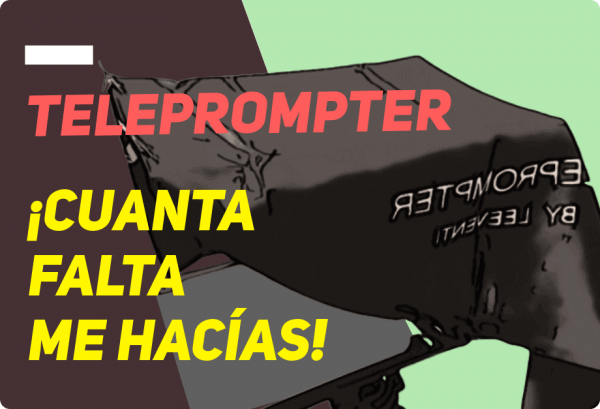 Teleprompter de Leeventi adaptación casera
